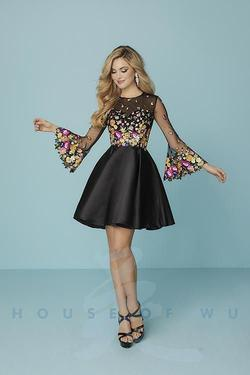 Hannah S Multicolor Size 8 Flare Cocktail Dress on Queenly