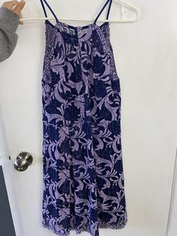 Francesca's Purple Size 6 Homecoming Floral Cocktail Dress on Queenly