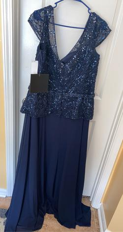 Blue Size 16 A-line Dress on Queenly