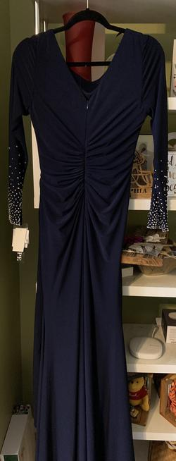 Queenly size 10  Blue Straight evening gown/formal dress