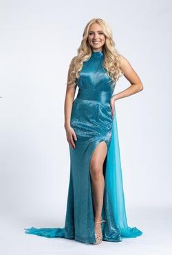 Ashley Lauren Blue Size 2 Straight Dress on Queenly