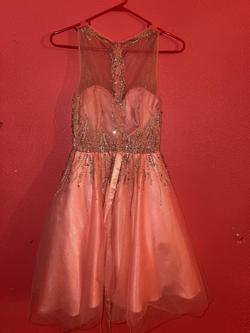 Juliet Pink Size 0 Homecoming Flare Ball gown on Queenly