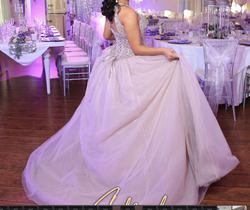 Mori Lee Purple Size 6 Quinceanera Halter Ball gown on Queenly