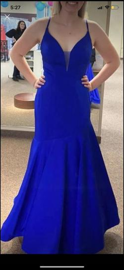 Ashley Lauren Blue Size 8 Ashleylauren Mermaid Dress on Queenly