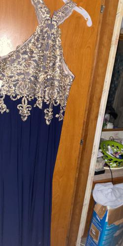 David's Bridal Blue Size 18 Prom Plus Size Straight Dress on Queenly