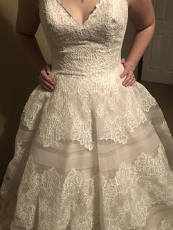Allure Bridals White Size 16 Belt Train Dress on Queenly