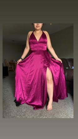 Queenly size 10  Purple A-line evening gown/formal dress