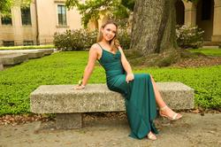 Queenly size 0  Green Straight evening gown/formal dress