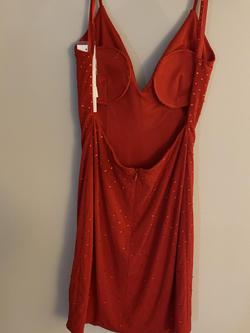 Jovani Red Size 4 Jersey Sorority Formal Cocktail Dress on Queenly