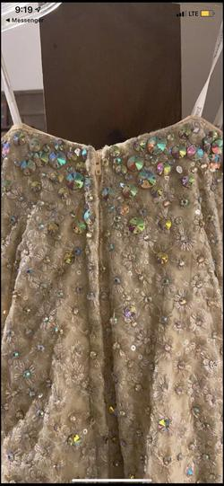Tony Bowls Gold Size 10 Cut Out Sequin Mermaid Dress on Queenly
