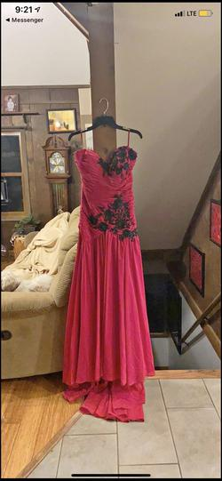 Queenly size 12  Red Train evening gown/formal dress