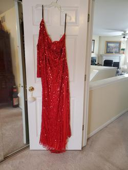 Queenly size 26 Mac Duggal  Red Straight evening gown/formal dress