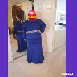 Blue Size 26 Mermaid Dress on Queenly