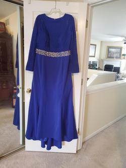 Queenly size 26  Blue Mermaid evening gown/formal dress