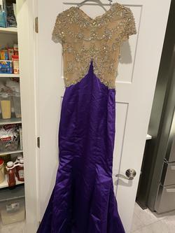 Purple Size 6 Mermaid Dress on Queenly