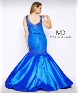 Mac Duggal Red Size 26 V Neck Homecoming Blue Mermaid Dress on Queenly