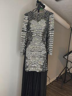 Primeravera Multicolor Size 6 Black Cape Pageant Cocktail Dress on Queenly