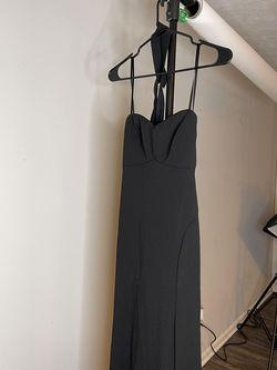 Davids Bridal Black Size 4 Pageant Side slit Dress on Queenly