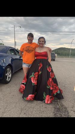 Jovani Red Size 12 Prom Ball gown on Queenly