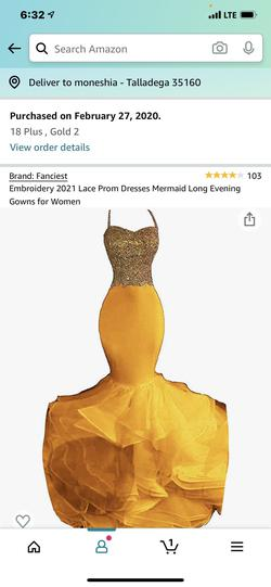 Yellow Size 18 Mermaid Dress on Queenly
