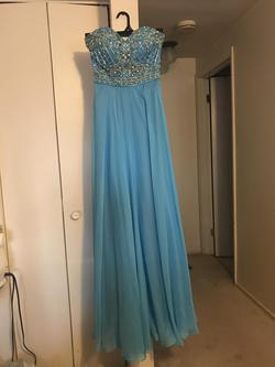 Studio 17 Blue Size 4 Pageant Tulle A-line Dress on Queenly