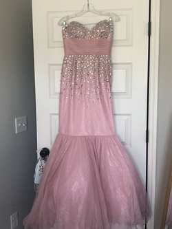 Queenly size 4  Pink Mermaid evening gown/formal dress