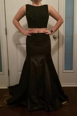 Sherri Hill Black Size 8 Two Piece Prom Flare Ball gown on Queenly