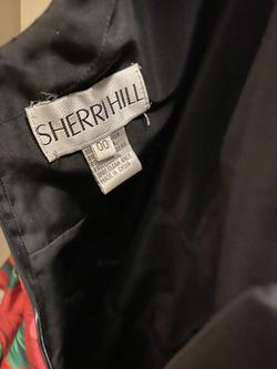 Sherri Hill Black Size 00 Flare Halter Silk Cocktail Dress on Queenly