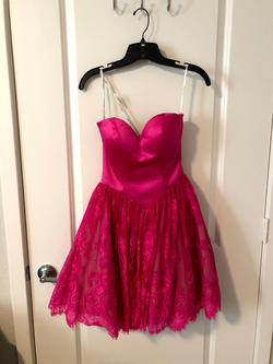 Queenly size 00 Sherri Hill Pink Cocktail evening gown/formal dress