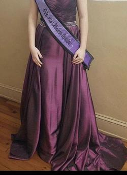 Jovani Purple Size 6 Pageant Straight Dress on Queenly