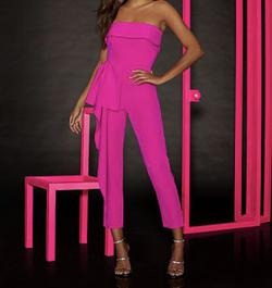 Queenly size 4  Pink Jumpsuit evening gown/formal dress