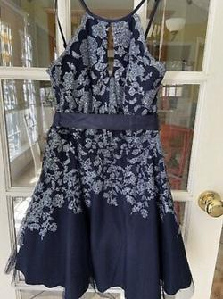 Tweezeme Blue Size 10 Flare Homecoming A-line Dress on Queenly