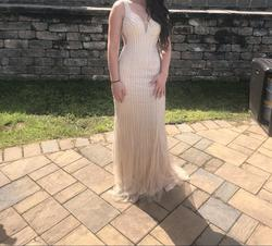 Nude Size 0 Ball gown on Queenly