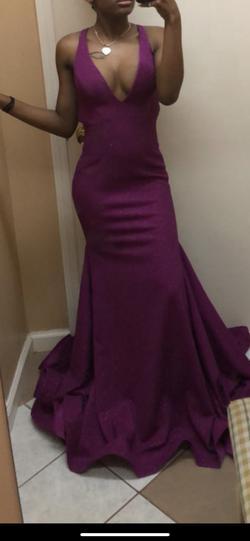 Cinderella Purple Size 0 Plunge Mermaid Dress on Queenly