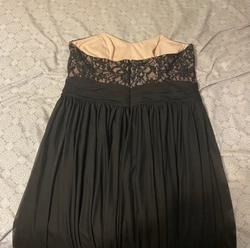 David's Bridal Black Size 16 Strapless Plus Size Homecoming A-line Dress on Queenly