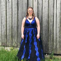 Blue Size 18 Ball gown on Queenly