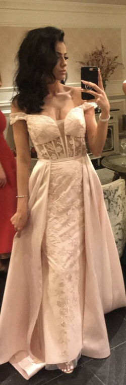 Queenly size 8  Pink Train evening gown/formal dress
