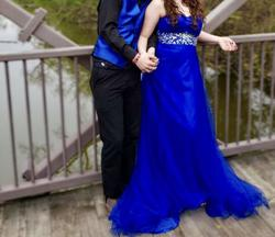 Blue Size 10 Straight Dress on Queenly