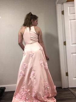 Bling Prom Pink Size 8 A-line Dress on Queenly