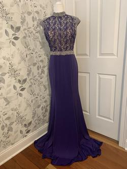 Queenly size 12  Purple Train evening gown/formal dress