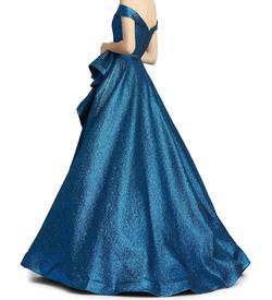 Style 67292 Mac Duggal Blue Size 2 Polyester Ball gown on Queenly