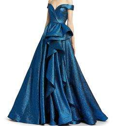 Queenly size 2 Mac Duggal Blue Ball gown evening gown/formal dress