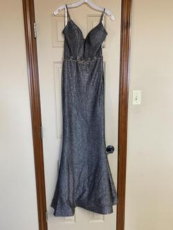 Jules Cleo Silver Size 2 Prom Mermaid Dress on Queenly