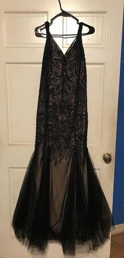 Queenly size 16  Black Straight evening gown/formal dress