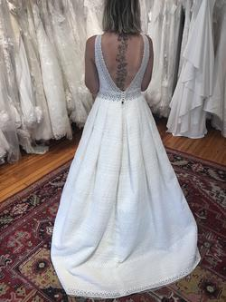 Sweetheart White Size 10 Wedding Backless Ball gown on Queenly