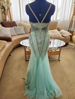 Jovani Blue Size 2 Mermaid Dress on Queenly