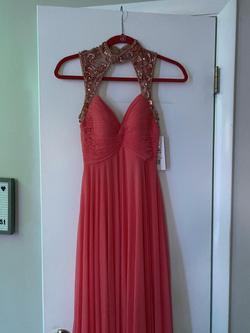Queenly size 0 Sherri Hill Orange A-line evening gown/formal dress