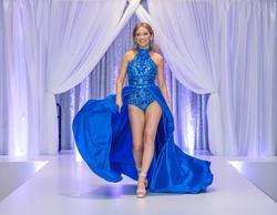 Rachel Allan Blue Size 2 Pageant Jewelled Jumpsuit Dress on Queenly