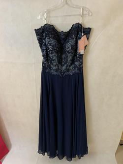 Queenly size 12  Blue A-line evening gown/formal dress