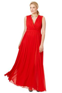 Queenly size 22 Badgley Mischka Red A-line evening gown/formal dress